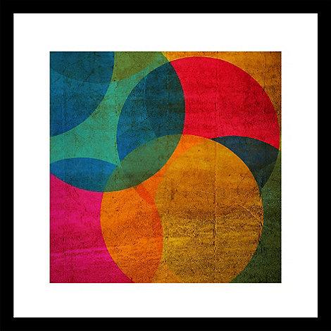 Graham & Brown - Yellow neon circle wall art