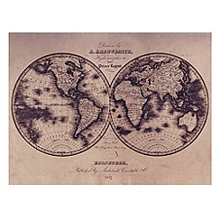 Graham & Brown - Yellow Map Wall art