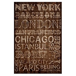 Graham & Brown - Chocolate Cities Wall art
