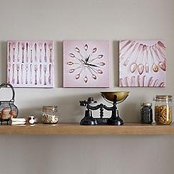 Graham & Brown - Beige Clock Printed Canvas Wall art