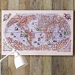 Graham & Brown - Cream World Map Magnetic Wall art