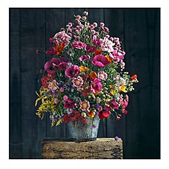 Graham & Brown - Pink Floral Printed Canvas Wall art