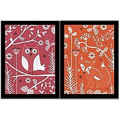 Graham & Brown - Fox & owl duo wall art