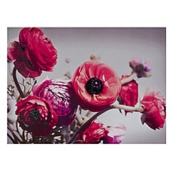 Graham & Brown - Bold bouquet with glitter wall art