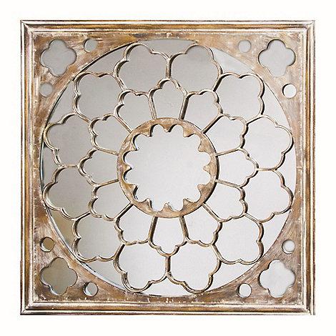 Graham & Brown - Silver Fretwork Mirror