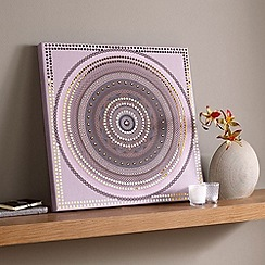 Graham & Brown - Purple Exotic Sequin Canvas Wall art
