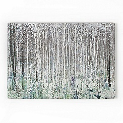 Graham & Brown - Blue Watercolour Woods Canvas Wallart