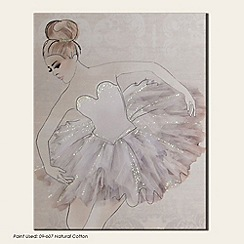 Graham & Brown - Beige Classic Ballerina Canvas Wallart