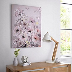 Graham & Brown - Beige Watercolour Bloom Canvas Wallart
