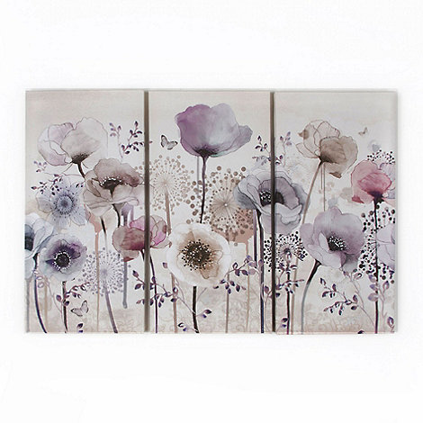 Graham & Brown - Purple Classic Poppy Trio Canvas Wallart