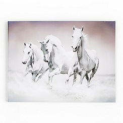 Graham & Brown - White Galloping Waves Canvas Wallart