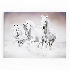 Graham & Brown - White Galloping Waves Canvas Wallart