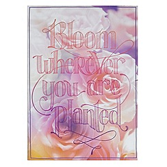Graham & Brown - Pink Bloom Wherever You Are Planted Printed Canvas