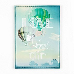 Graham & Brown - Green Love Is In The Air Printed Canvas