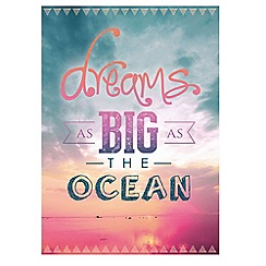Graham & Brown - Pink Dreams As Big As The Ocean Printed Canvas