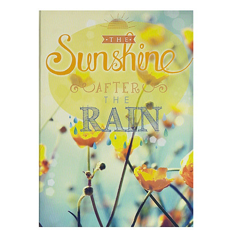 Graham & Brown - Yellow Sunshine After The Rain Printed Canvas