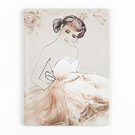 Graham & Brown - Beige Grace Printed Canvas