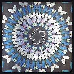 Graham & Brown - Blue Flock Of Butterflies Framed Art