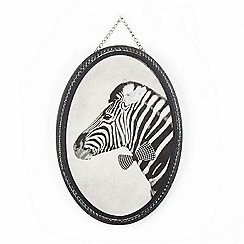 Graham & Brown - Black Ziggy Zebra Printed Canvas