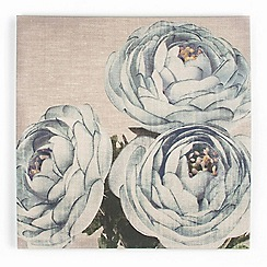 Graham & Brown - Blue Teal Floral Trio Print On Fabric Wall art