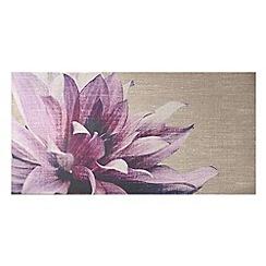 Graham & Brown - Pink Pink Petals Print On Fabric Wall art