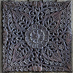 Graham & Brown - Brown Ornate Ethinic Panel Metal Art