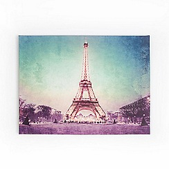 Graham & Brown - Paris Eiffel Tower At Dusk Printed Canvas Wall Art