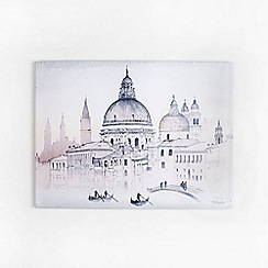 Graham & Brown - Venice City Landscape Watercolour View Printed Canvas Wall Art