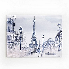 Graham & Brown - Parisian Street Eiffel Tower Watercolour Printed Canvas Wall Art