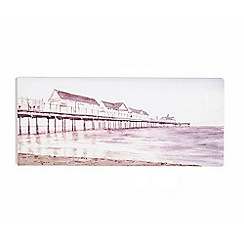 Graham & Brown - Boardwalk Pier Seaside Watercolour Printed Canvas Wall Art