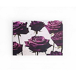 Graham & Brown - Velvet Plum Roses Floral Printed Canvas Wall Art