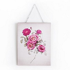 Graham & Brown - Mixed Media Hand Drawn & Photographic Bloom Bouquet Printed Canvas Wall Art