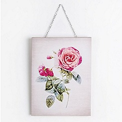 Graham & Brown - Mixed Media Hand Drawn & Photographic Single Bloom Floral Printed Canvas Wall Art