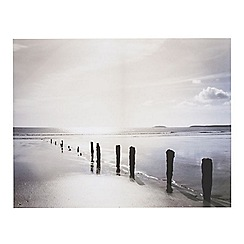 Graham & Brown - Distant Shores Seaside Beach Photographic Printed Canvas Wall Art