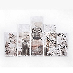 Graham & Brown - Harmony Serenity Buddha Set Of 5 Printed Canvas Wall Art
