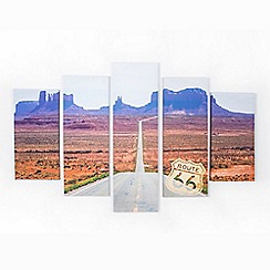 Graham & Brown - Route 66 America Set Of 5 Printed Canvas Wall Art