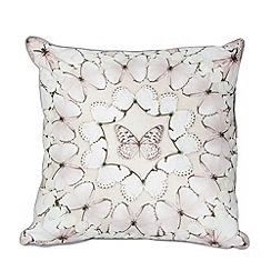 Graham & Brown - Neutral Butterfly Array Cushion