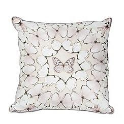 Graham & Brown - Neutral Butterfly Array Cushion