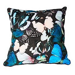 Graham & Brown - Blue Curio Butterfly Cushion