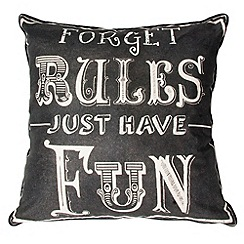 Graham & Brown - Black Forget Rules Cushion