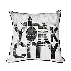 Graham & Brown - Black and White NY Type Cushion