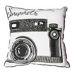 Graham & Brown - Black and White Snapshots Cushion
