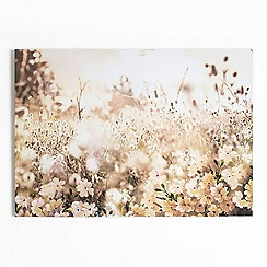 Graham & Brown - Layered Spring Meadow Floral Landscape Printed Canvas Wall Art