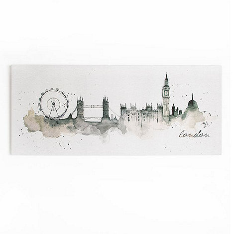 Graham & Brown - London Cityscape Watercolour Printed Canvas Wall Art