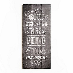Graham & Brown - Good Things Inspirational Quote Wooden Print Wall Art