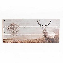 Graham & Brown - Animal Stag Wooden Print Wall Art