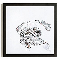 Graham & Brown - Pug Dog Framed Print Wall Art