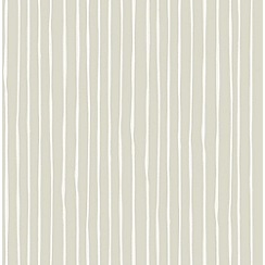 Graham & Brown - Candy Stripe Natural Wallpaper