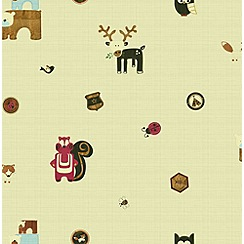 Graham & Brown - Woodland Critters Multi Wallpaper