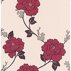 Laurence Llewelyn-Bowen - Pink Shantung wallpaper